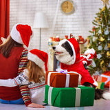 Dog Christmas Clothes Santa Claus Riding Deer