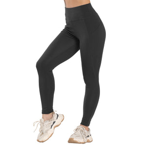 Leggings for fitness, high waist seamless for workout. Stretch training pants with pocket