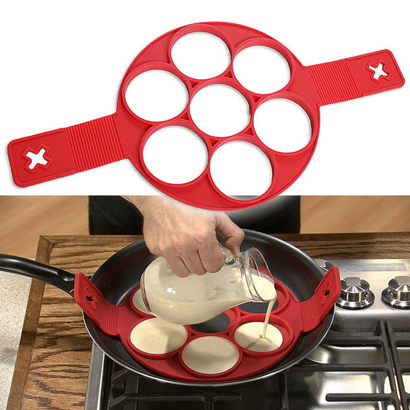 non-stick silicone pancake pan for eggs, pancakes and omelets