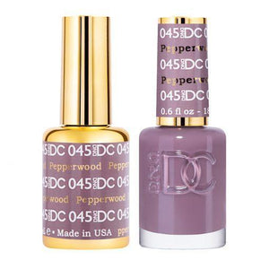 DND DC 045 Pepperwood - DND DC Gel Polish & Matching Nail Lacquer Duo Set