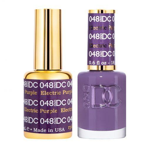 DND DC 048 Electric Purple - Gel & Matching Polish Set - DND DC Gel & Lacquer