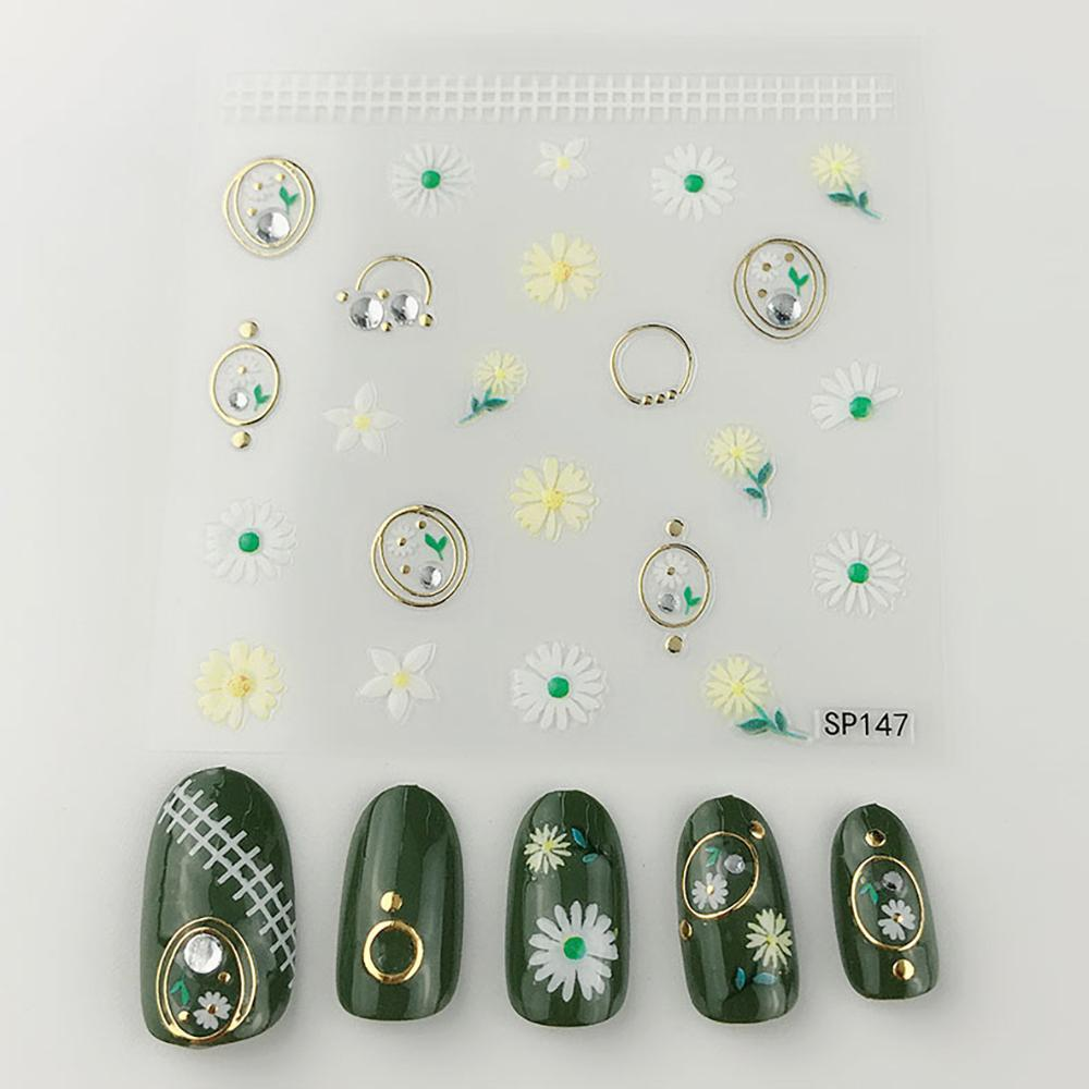 3D Laser Bronzing Nail Stickers SP147