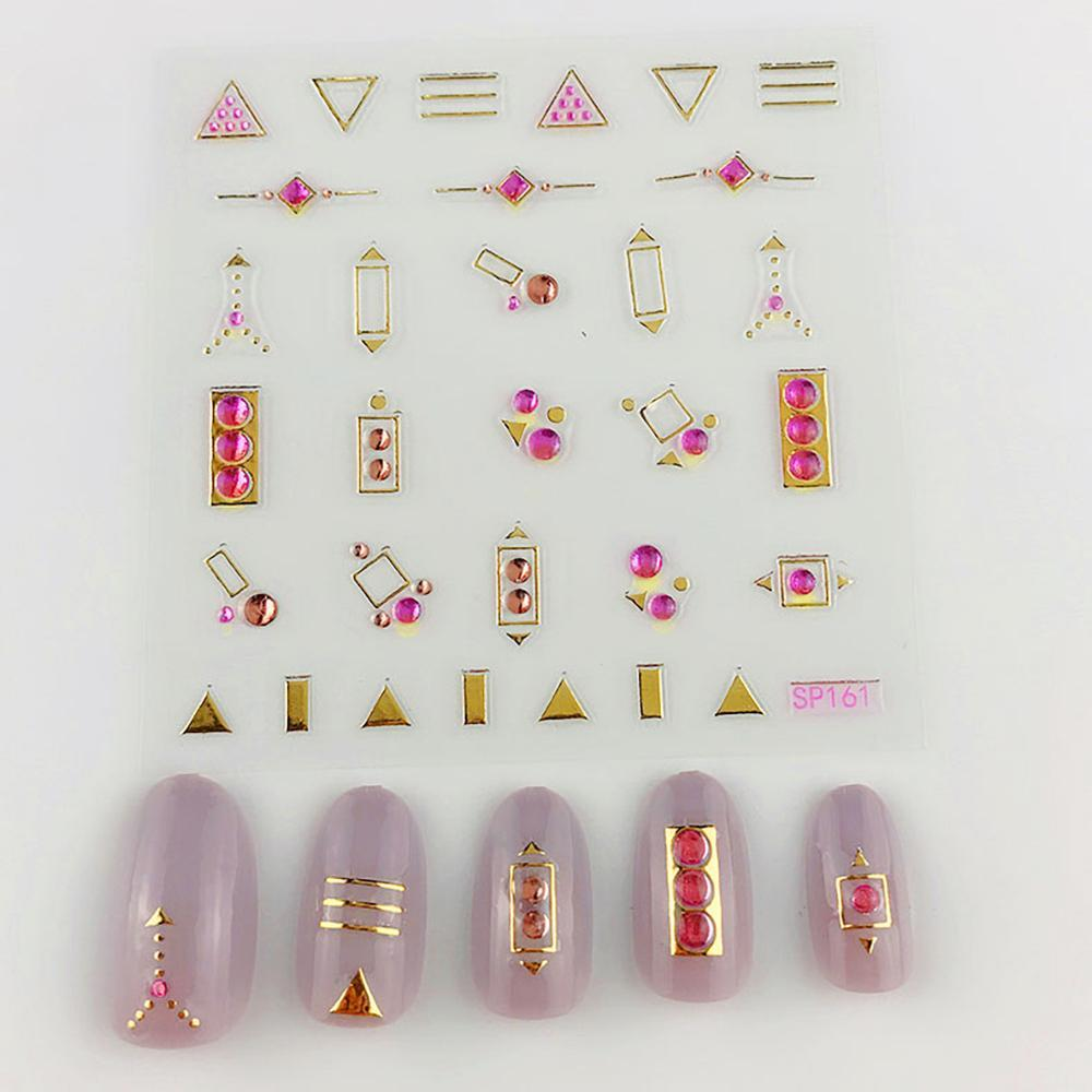 3D Laser Bronzing Nail Stickers SP161