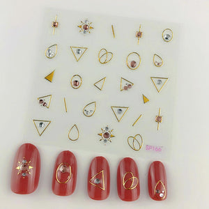 3D Laser Bronzing Nail Stickers SP166