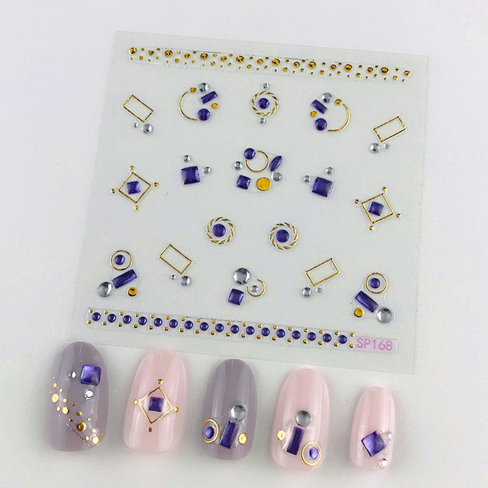 3D Laser Bronzing Nail Stickers SP168