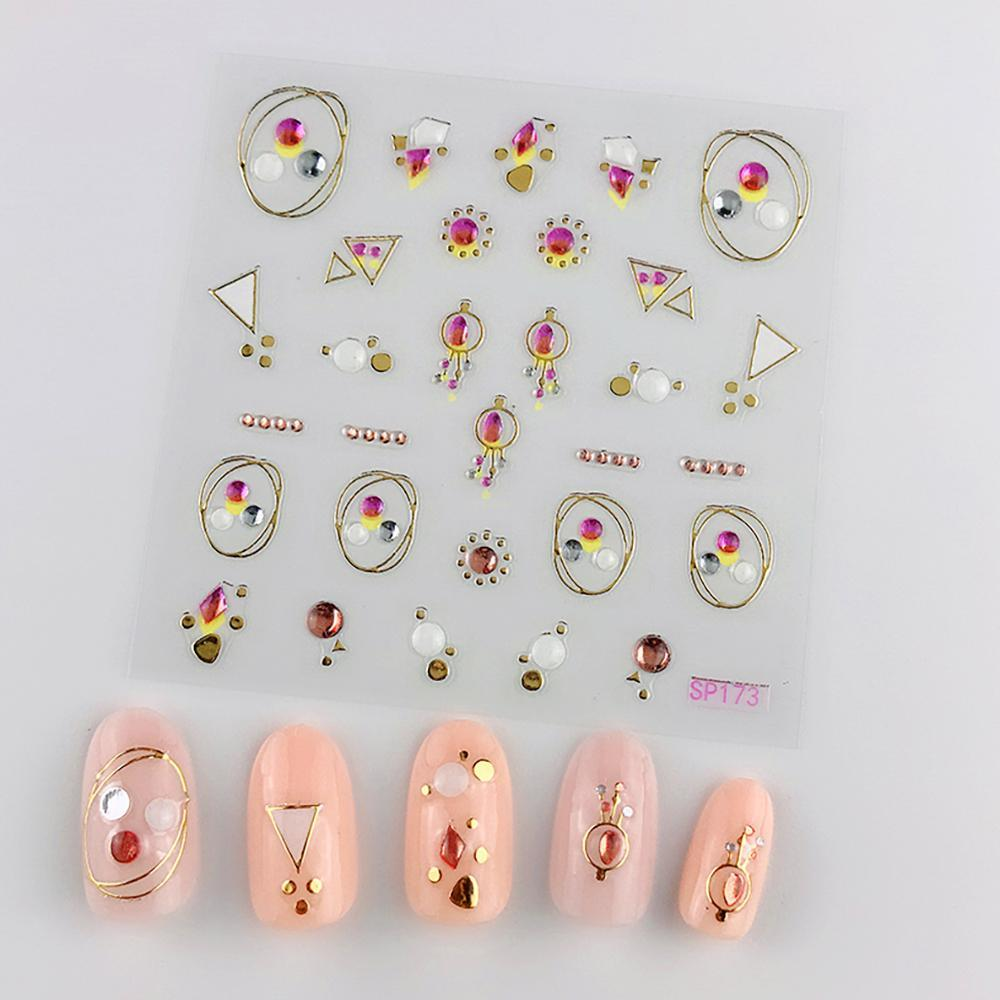 3D Laser Bronzing Nail Stickers SP173