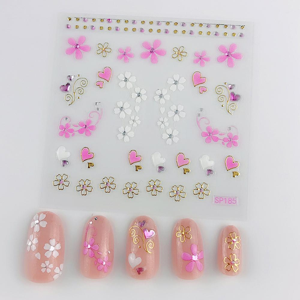 3D Laser Bronzing Nail Stickers SP185