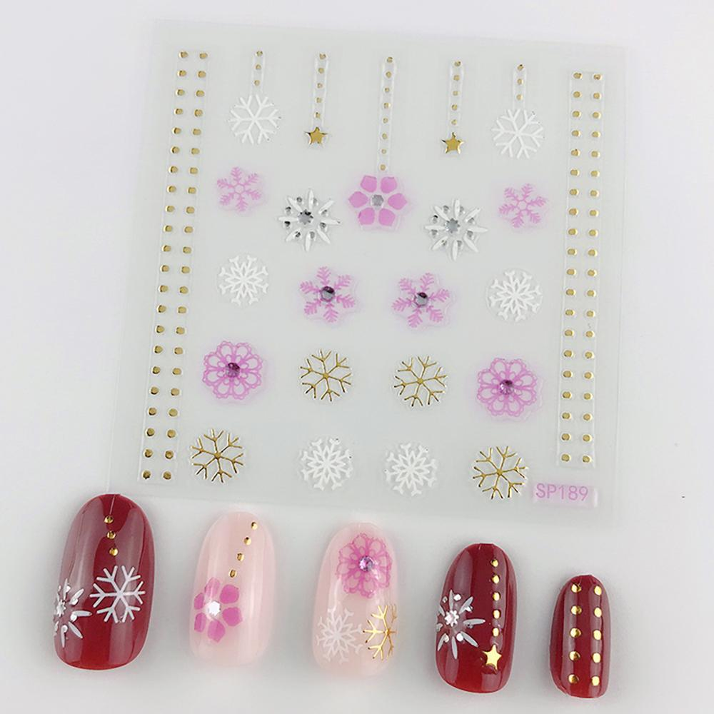 3D Laser Bronzing Nail Stickers SP189