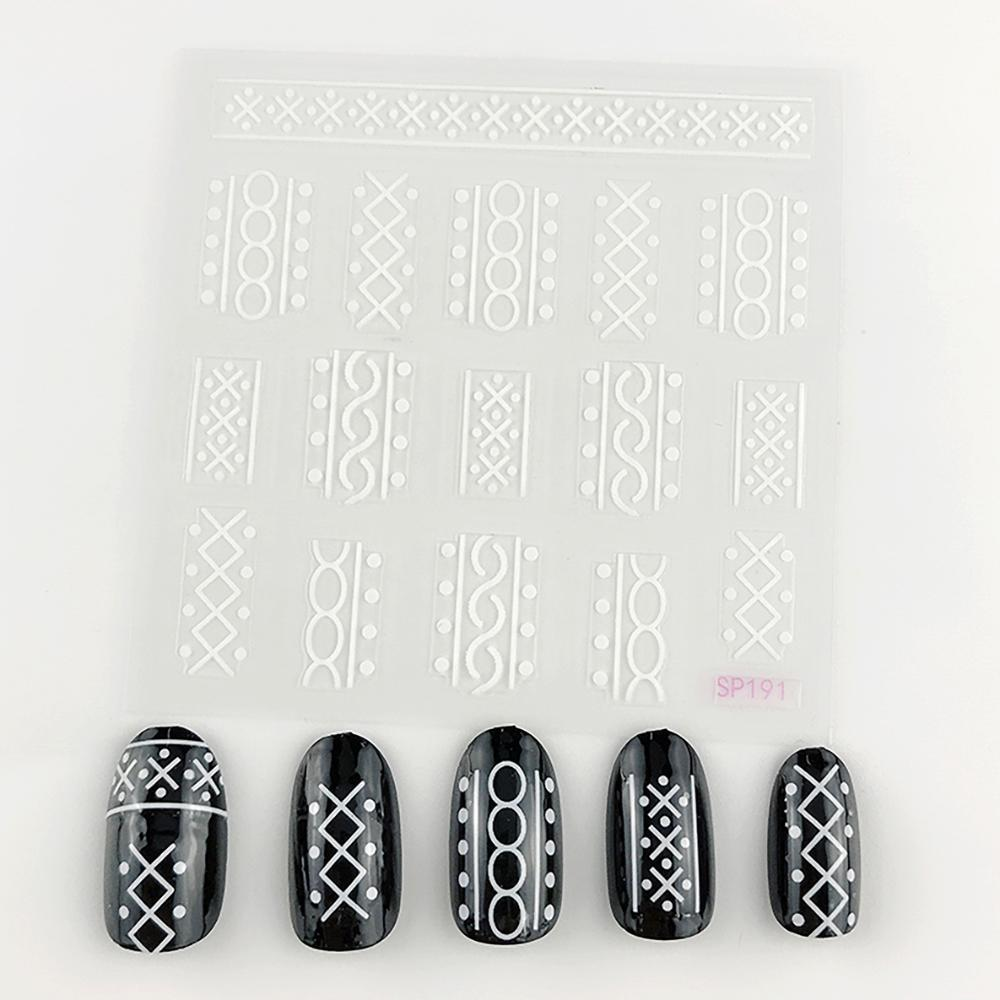 3D Laser Bronzing Nail Stickers SP191
