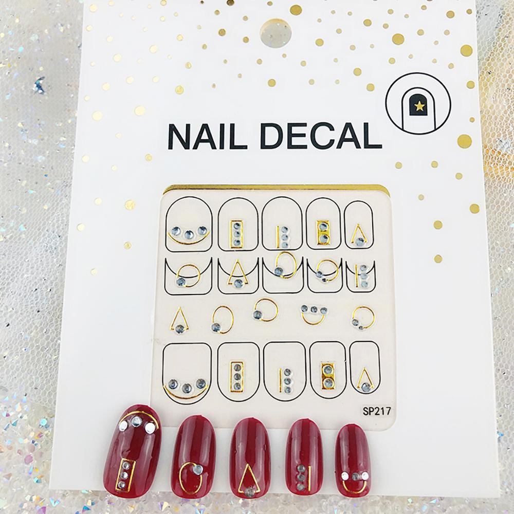 3D Laser Bronzing Nail Stickers SP217