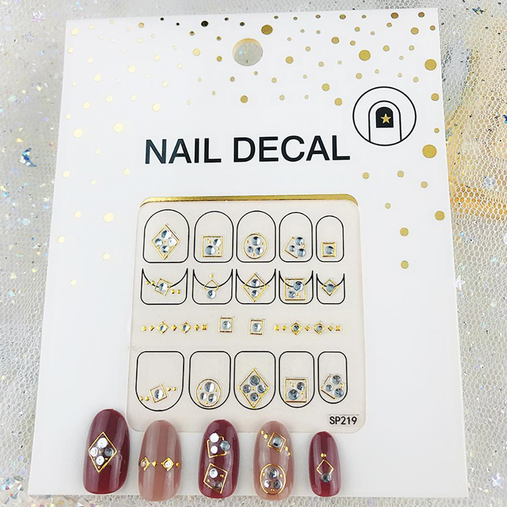 3D Laser Bronzing Nail Stickers SP219