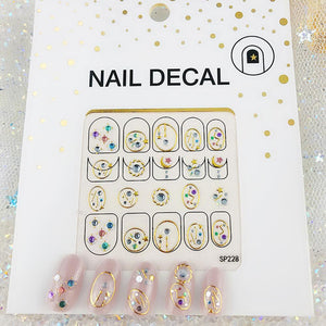 3D Laser Bronzing Nail Stickers SP228