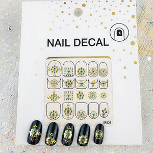3D Laser Bronzing Nail Stickers SP229