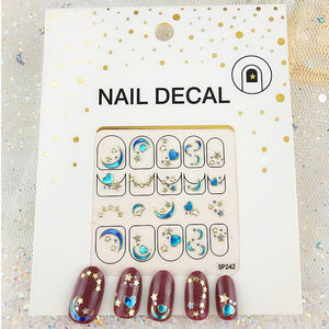 3D Laser Bronzing Nail Stickers SP242