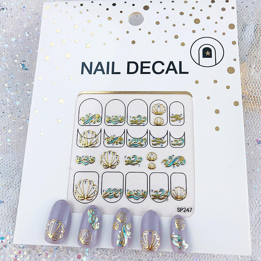 3D Laser Bronzing Nail Stickers SP247