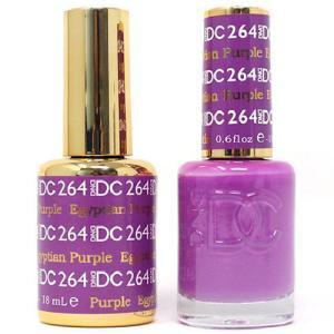 DND DC 264 Egyptian Purple - Gel & Matching Polish Set - DND DC Gel & Lacquer