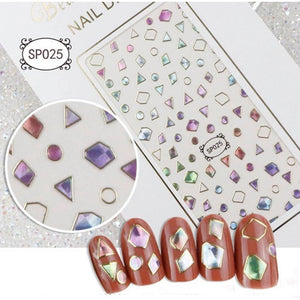 3D Laser Bronzing Nail Stickers SP025