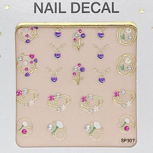 3D Laser Bronzing Nail Stickers SP307