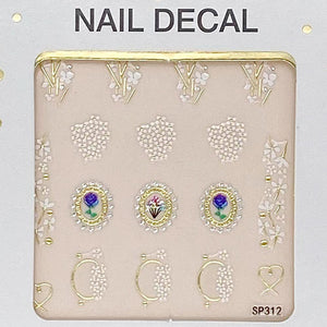 3D Laser Bronzing Nail Stickers SP312