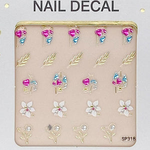 3D Laser Bronzing Nail Stickers SP318