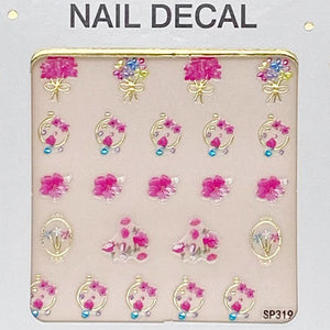 3D Laser Bronzing Nail Stickers SP319