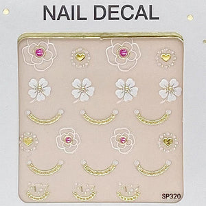 3D Laser Bronzing Nail Stickers SP320