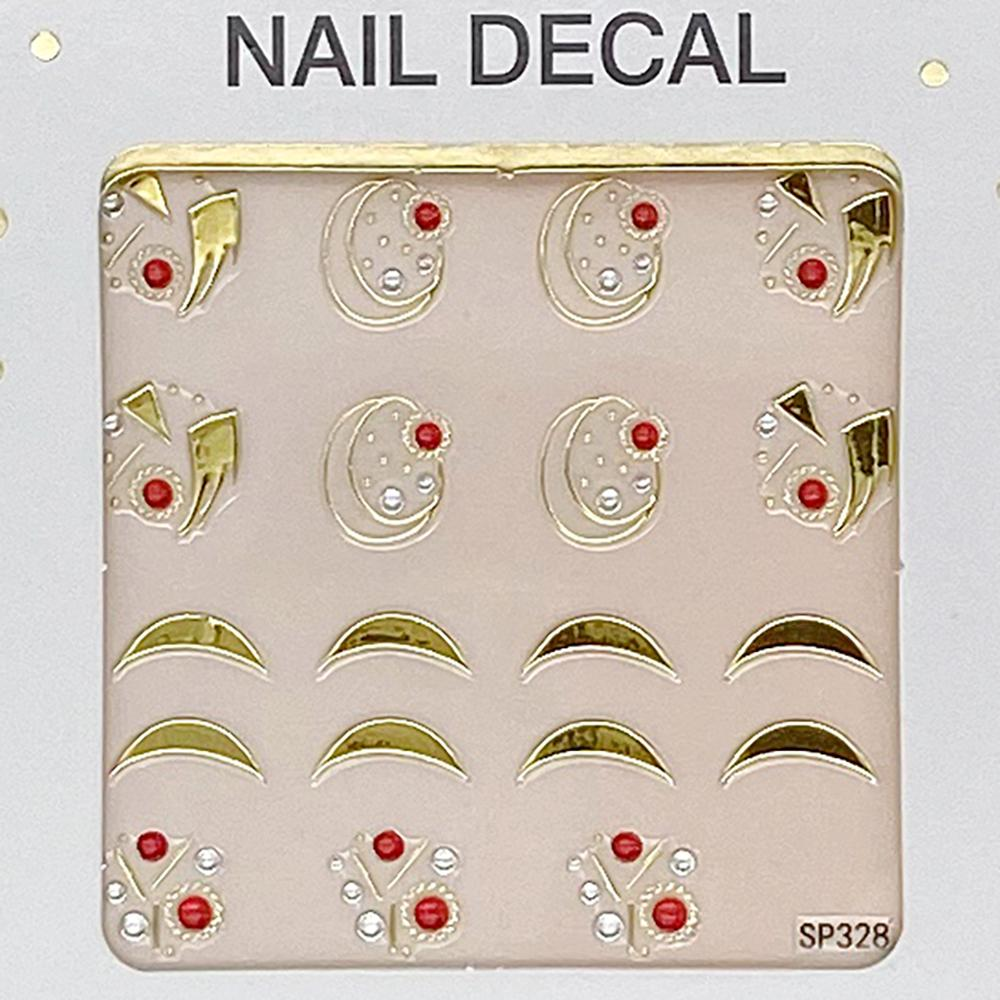 3D Laser Bronzing Nail Stickers SP328