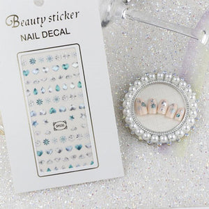 3D Laser Bronzing Nail Stickers SP035