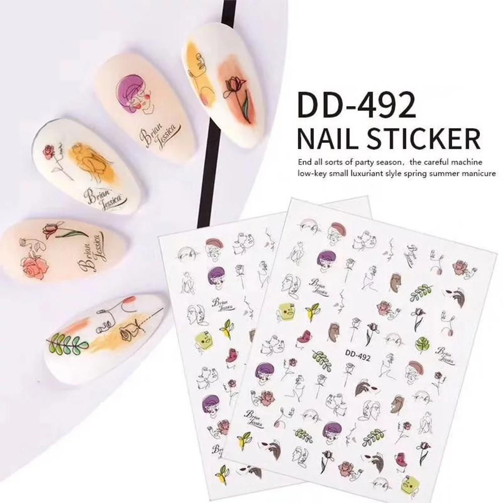 3D Nail Sticker DD492