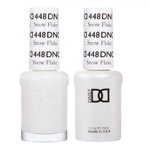 DND 448 Snow Flake - DND Gel Polish & Matching Nail Lacquer Duo Set - 0.5oz