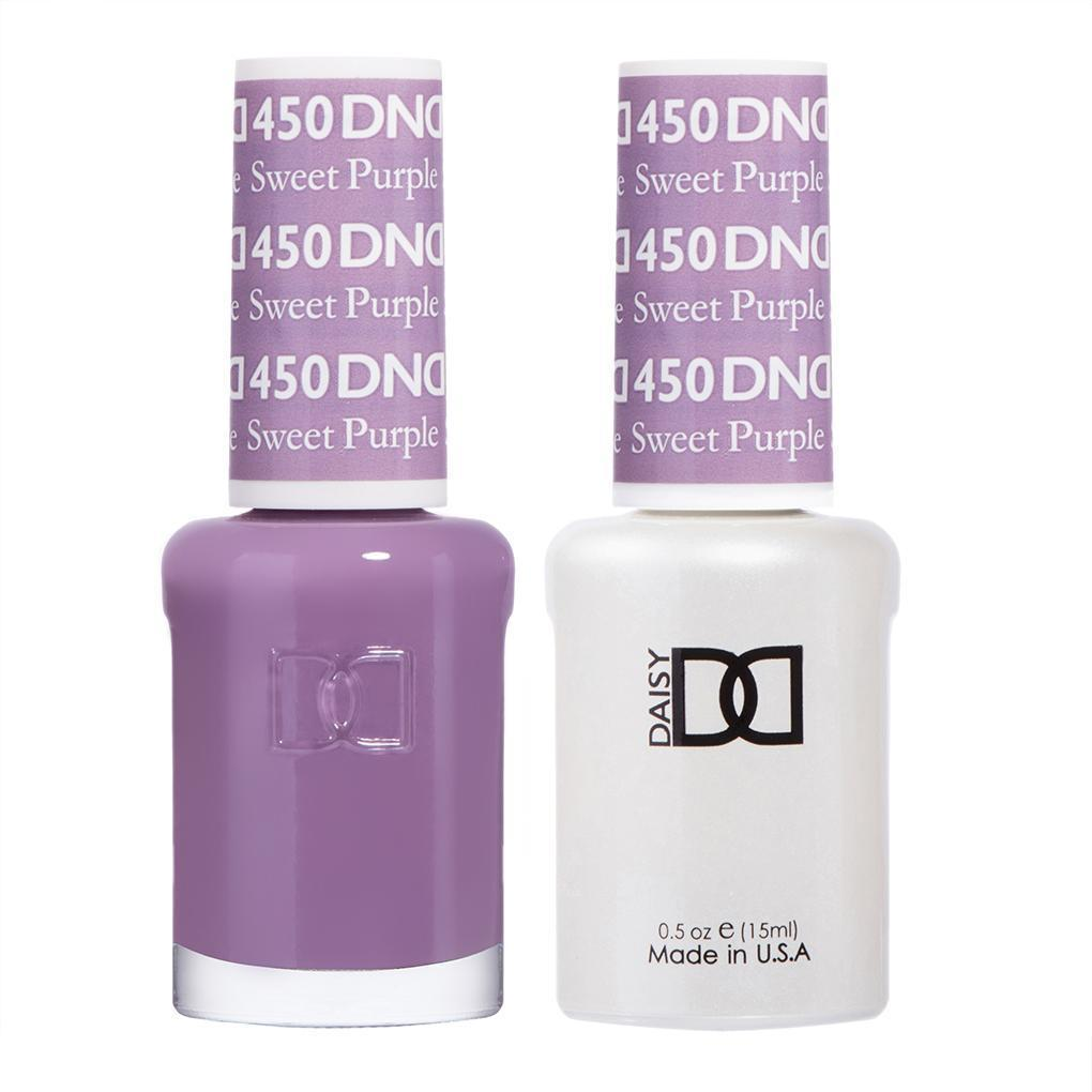 DND 450 Sweet Purple - DND Gel Polish & Matching Nail Lacquer Duo Set - 0.5oz