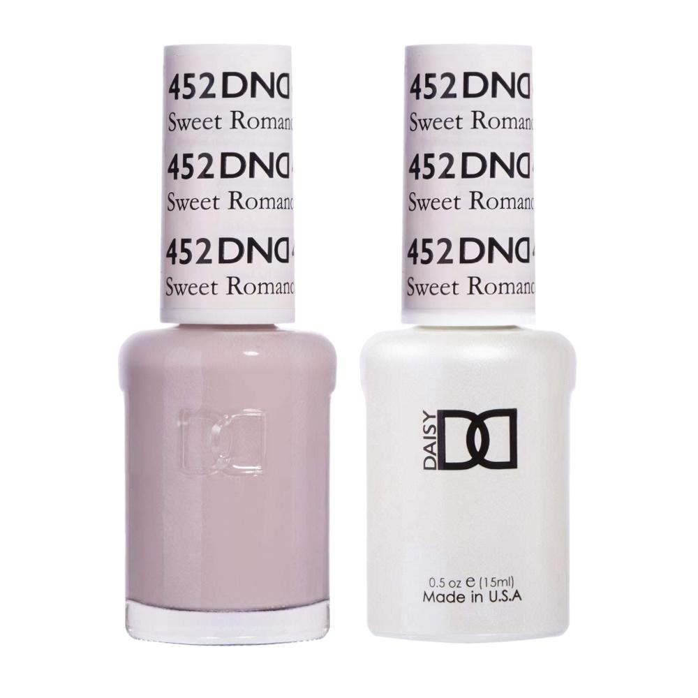 DND 452 Sweet Romance - DND Gel Polish & Matching Nail Lacquer Duo Set - 0.5oz