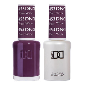 DND 453 Plum Wine - DND Gel Polish & Matching Nail Lacquer Duo Set - 0.5oz
