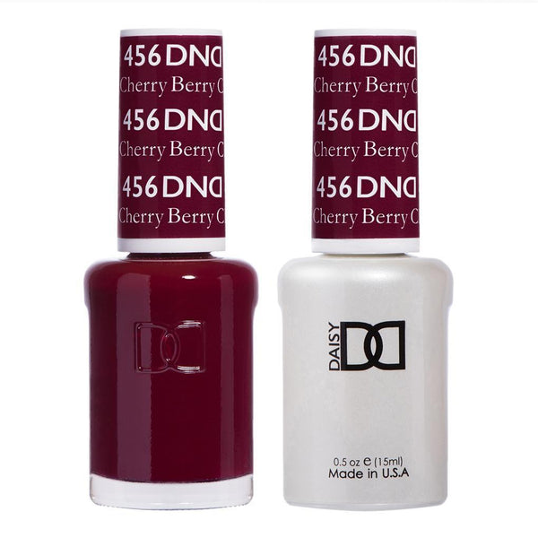 DND 456 Cherry Berry - DND Gel Polish & Matching Nail Lacquer Duo Set - 0.5oz