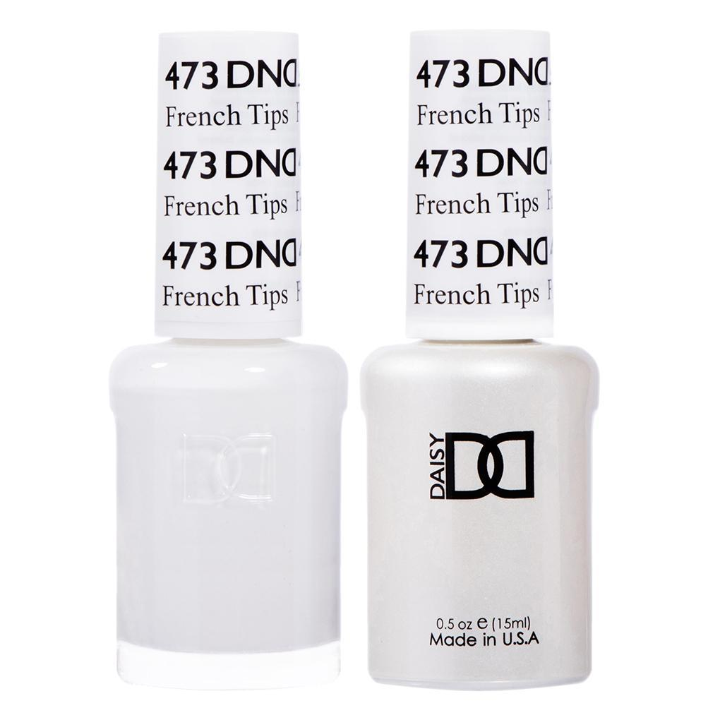 DND 473 French Tips - DND Gel Polish & Matching Nail Lacquer Duo Set - 0.5oz