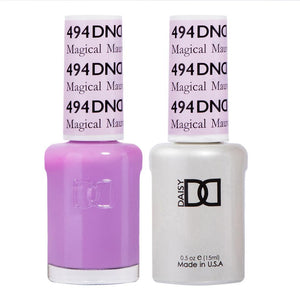 DND 494 Magical Mauve - DND Gel Polish & Matching Nail Lacquer Duo Set - 0.5oz