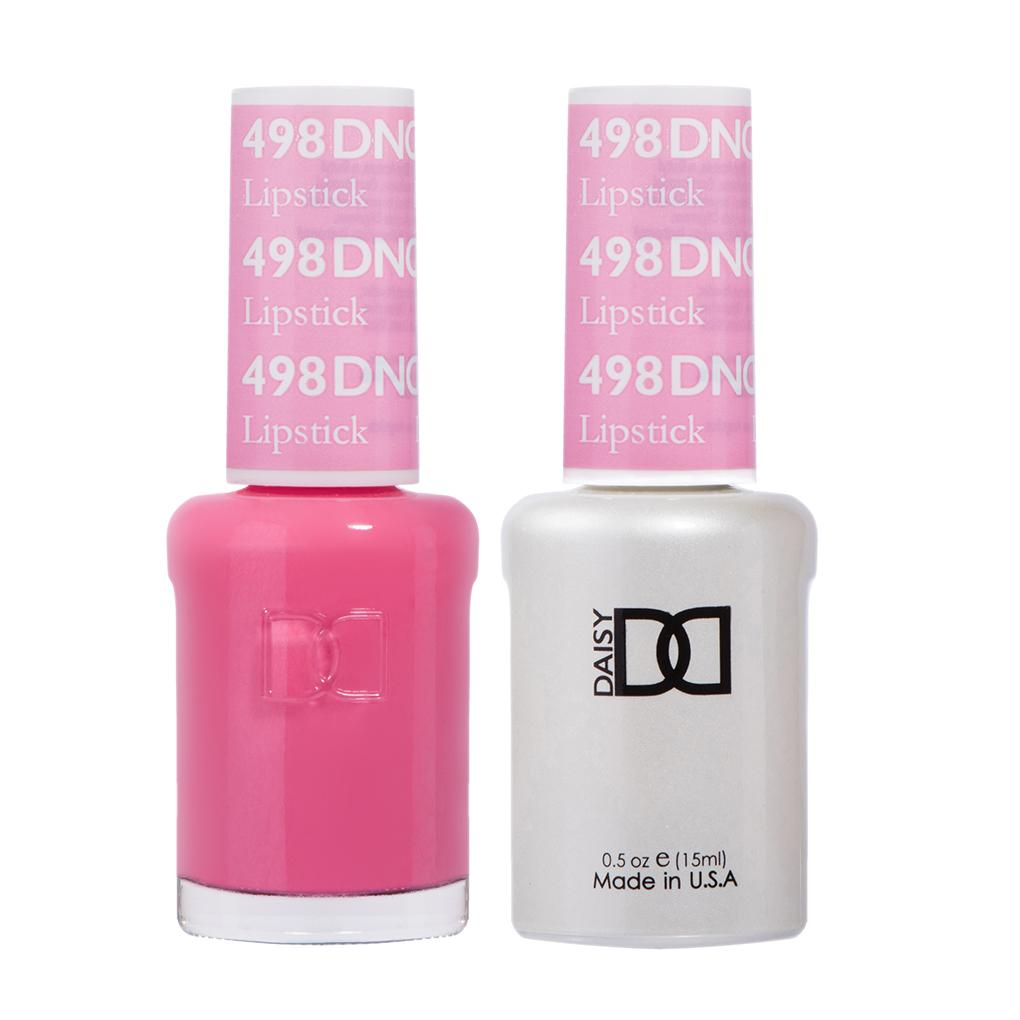 DND 498 Lipstick - DND Gel Polish & Matching Nail Lacquer Duo Set - 0.5oz