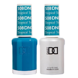 DND 508 Tropical Teal - DND Gel Polish & Matching Nail Lacquer Duo Set - 0.5oz