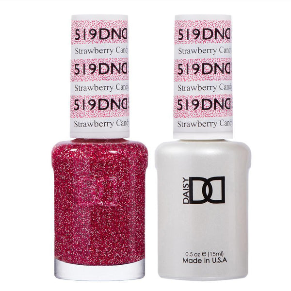 DND 519 Strawberry Candy - DND Gel Polish & Matching Nail Lacquer Duo Set - 0.5oz