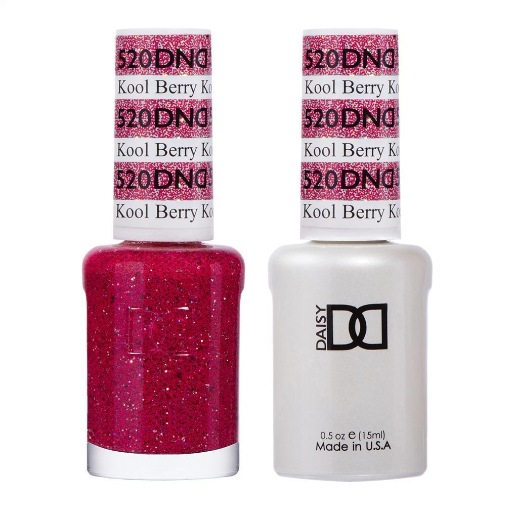 DND 520 Kool Berry - DND Gel Polish & Matching Nail Lacquer Duo Set - 0.5oz