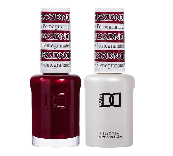 DND 522 Pomegranate - DND Gel Polish & Matching Nail Lacquer Duo Set - 0.5oz