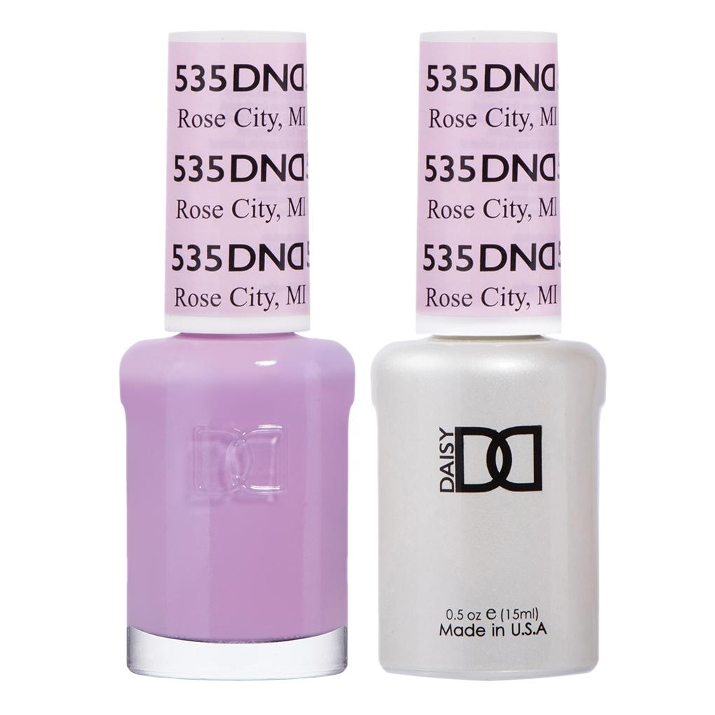 DND 535 Rose City, MI - DND Gel Polish & Matching Nail Lacquer Duo Set - 0.5oz