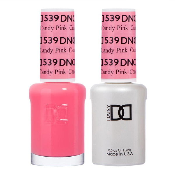 DND 539 Candy Pink - DND Gel Polish & Matching Nail Lacquer Duo Set - 0.5oz