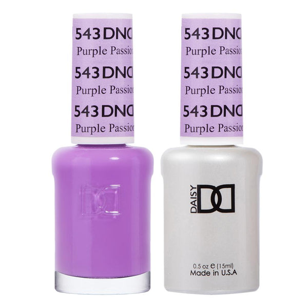 DND 543 Purple Passion - DND Gel Polish & Matching Nail Lacquer Duo Set - 0.5oz