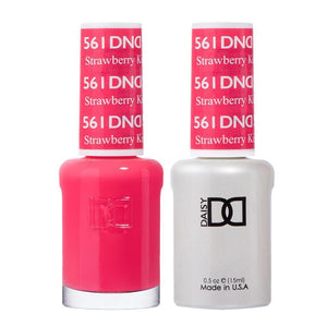 DND 561 Strawberry Kiss - DND Gel Polish & Matching Nail Lacquer Duo Set - 0.5oz