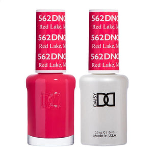 DND 562 Red Lake, MN - DND Gel Polish & Matching Nail Lacquer Duo Set - 0.5oz