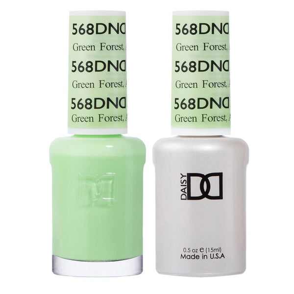DND 568 Green Forest, AK - DND Gel Polish & Matching Nail Lacquer Duo Set - 0.5oz