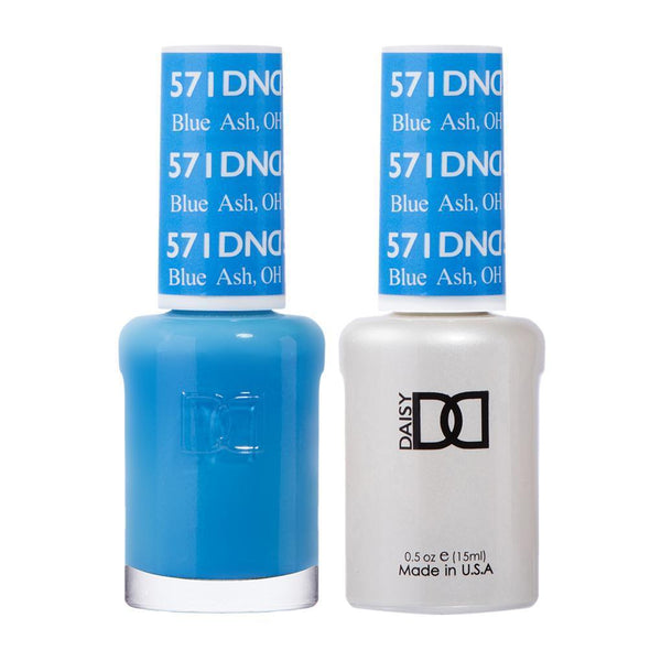 DND 571 Blue Ash, OH - DND Gel Polish & Matching Nail Lacquer Duo Set - 0.5oz