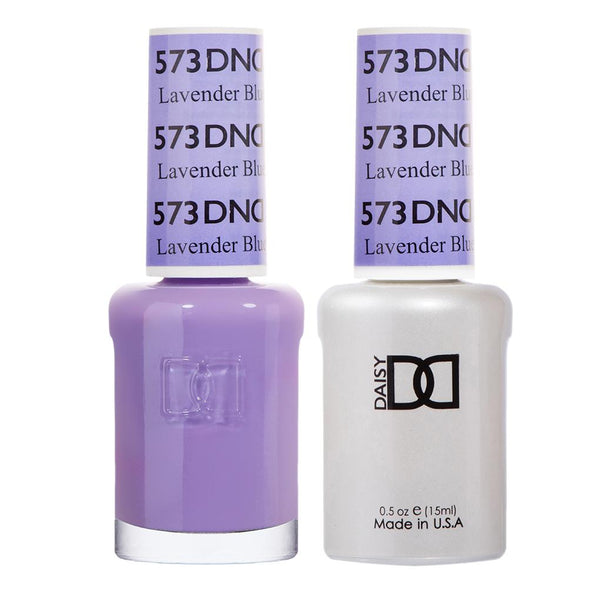 DND 573 Lavender Blue - DND Gel Polish & Matching Nail Lacquer Duo Set - 0.5oz