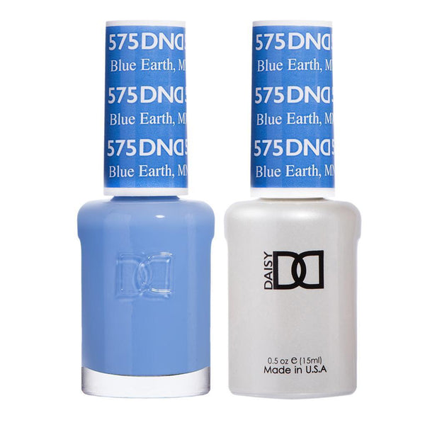 DND 575 Blue Earth - DND Gel Polish & Matching Nail Lacquer Duo Set - 0.5oz